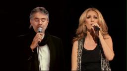 Celine con Bocelli dal vivo a Central Park