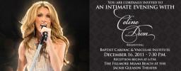 Un concerto di beneficenza per Celine