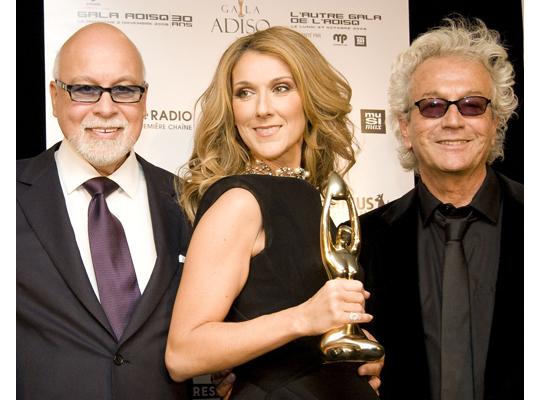 Rene, Celine e Luc Plamondon ai Premi de L'Adisq 2008
