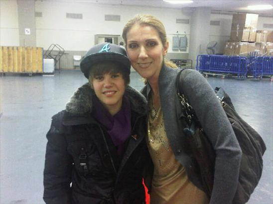Celine Dion con Justin Bieber