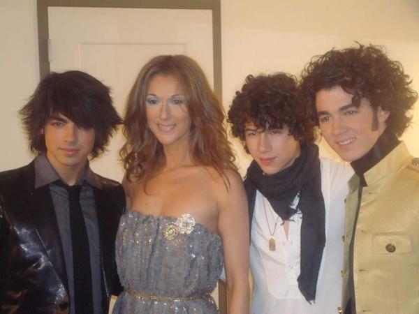 Celine Dion ed i Jonas Brothers agli American Music Awards 2007