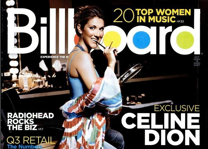 Celine Dion in copertina di Billboard