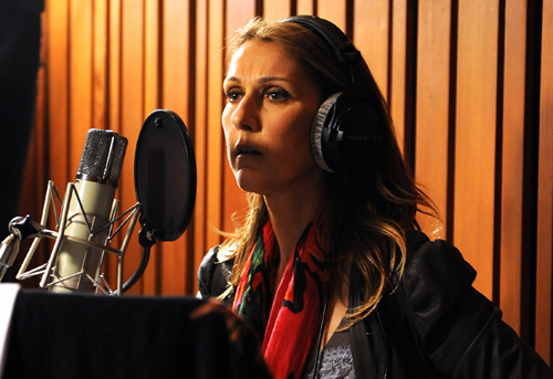 Celine Dion recording 'We Are The World'