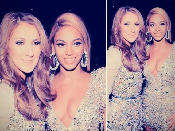 Beyonce con Celine Dion
