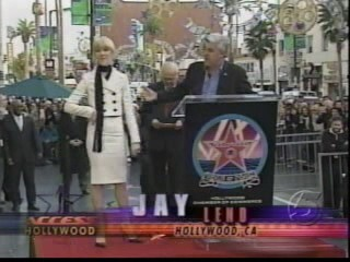 Celine e Jay Leno, walk of fame