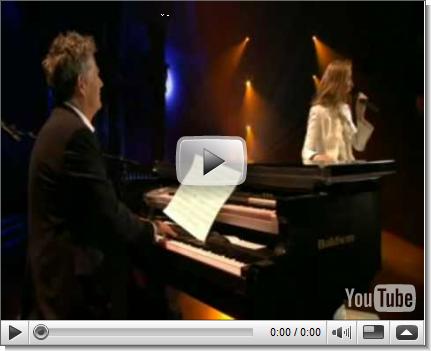 Celine e David Foster si esibiscono con
