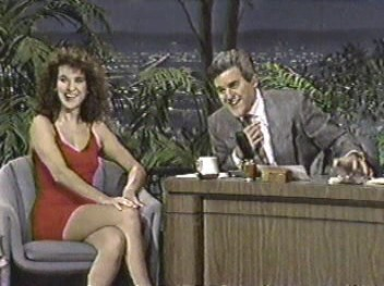 Celine Dion and Jay Leno, 1991